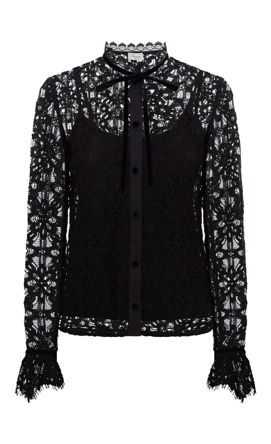 Eclipse Lace Shirt, Black