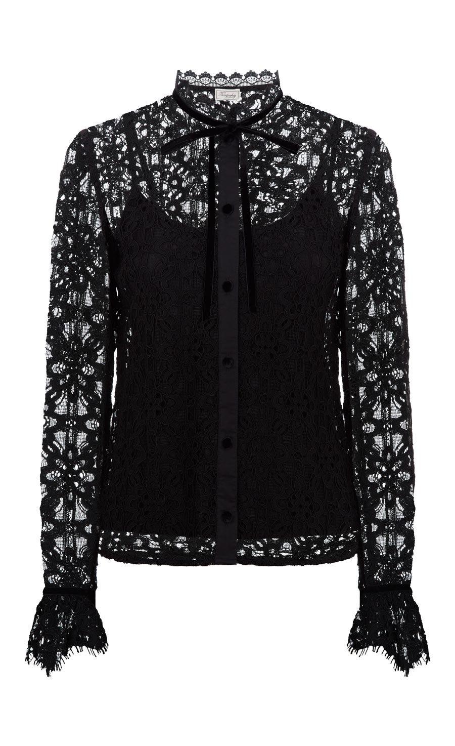 Eclipse Lace Shirt, Black