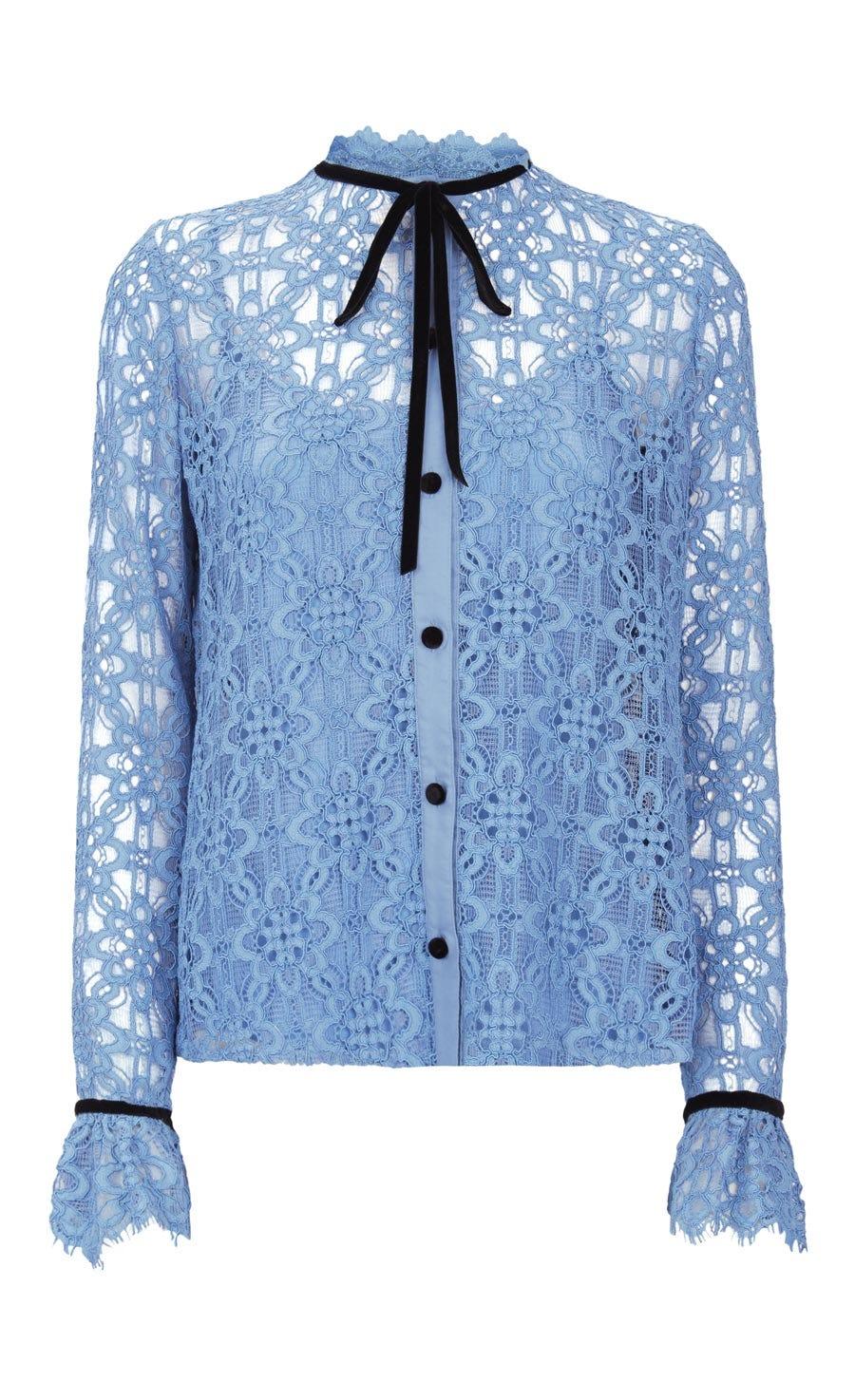 Eclipse Lace Shirt, Iris