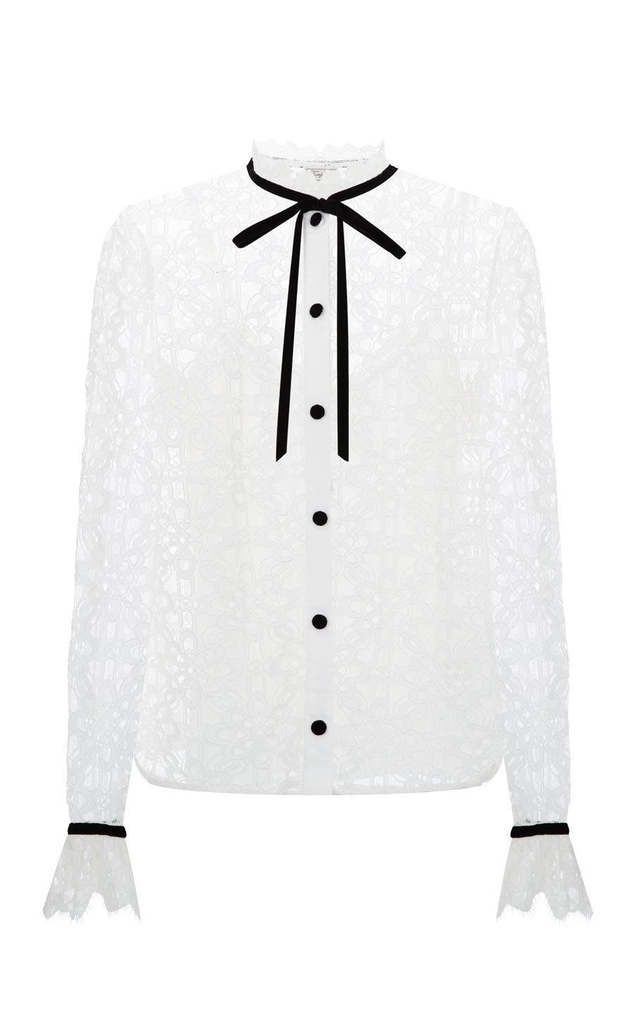 Eclipse Lace Shirt, White