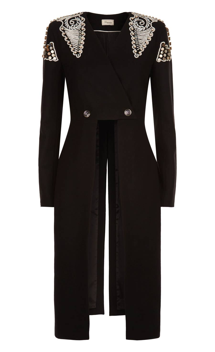 Empire Evening Coat, Black