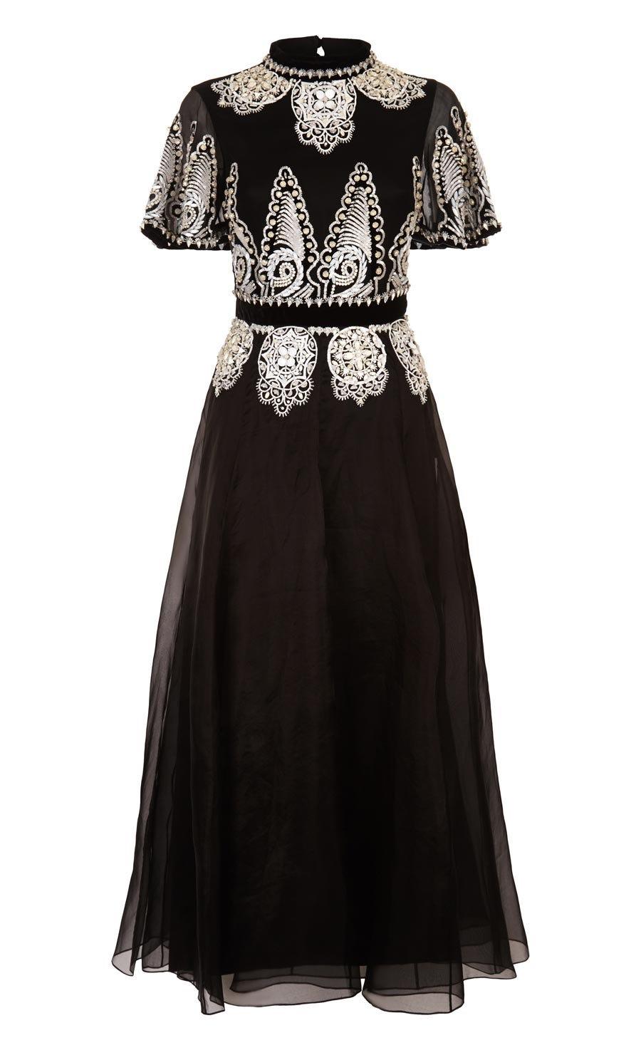 Empire Evening Show Dress, Black
