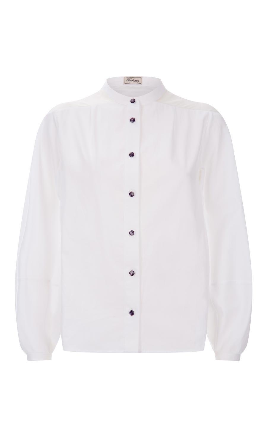 Enigma Sleeved Shirt, White