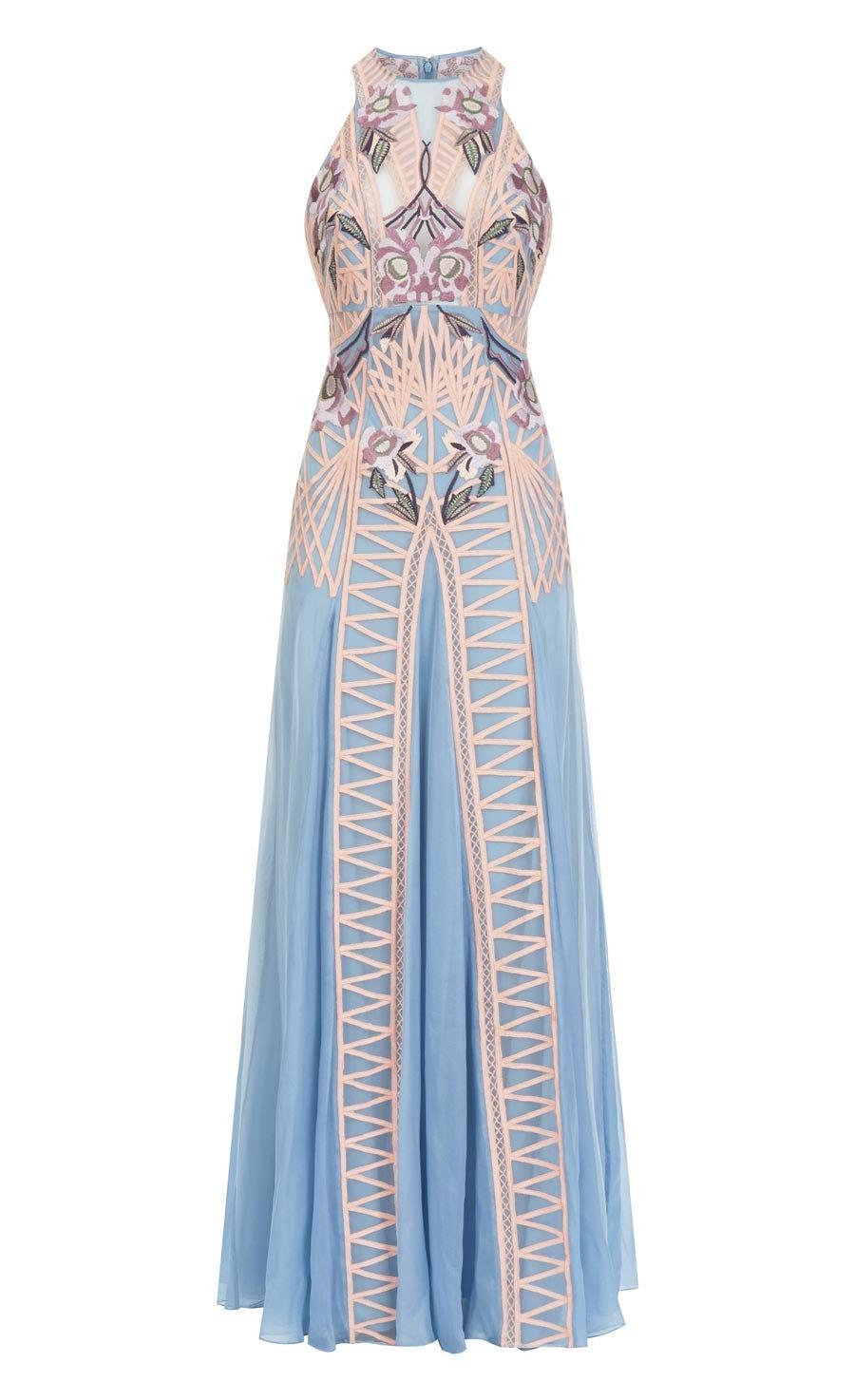Empress Long Dress, Iris Mix