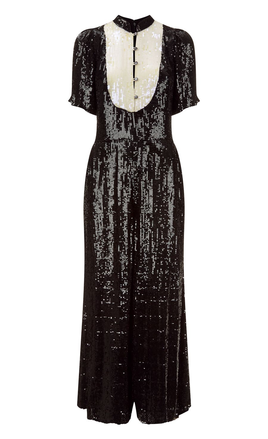 Filigree Jumpsuit, Black