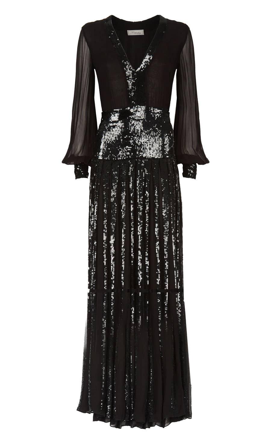 Filigree Dress, Black