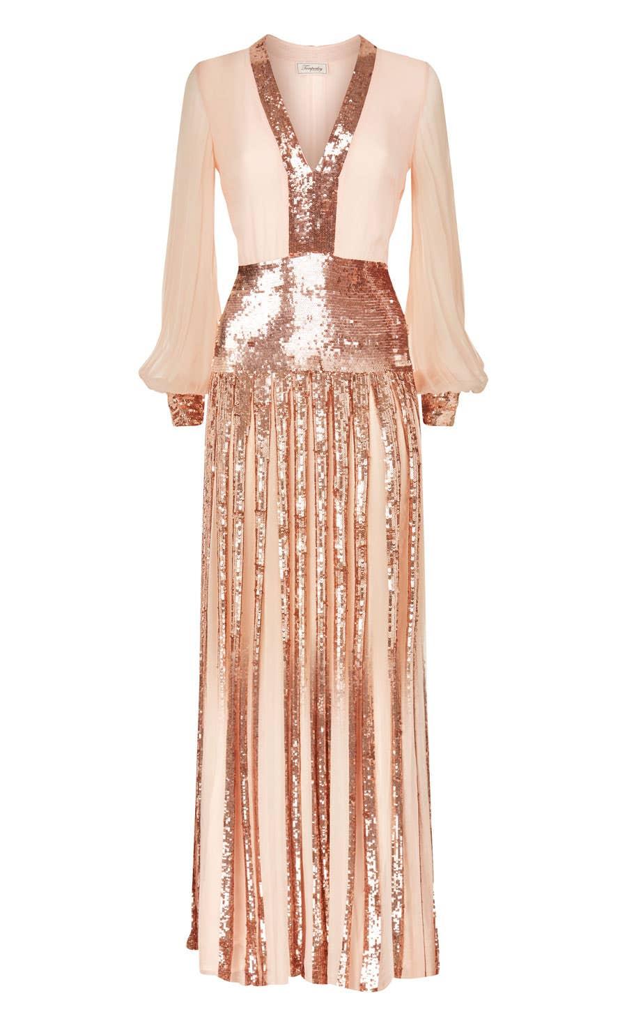 Filigree Dress, Rose Quartz
