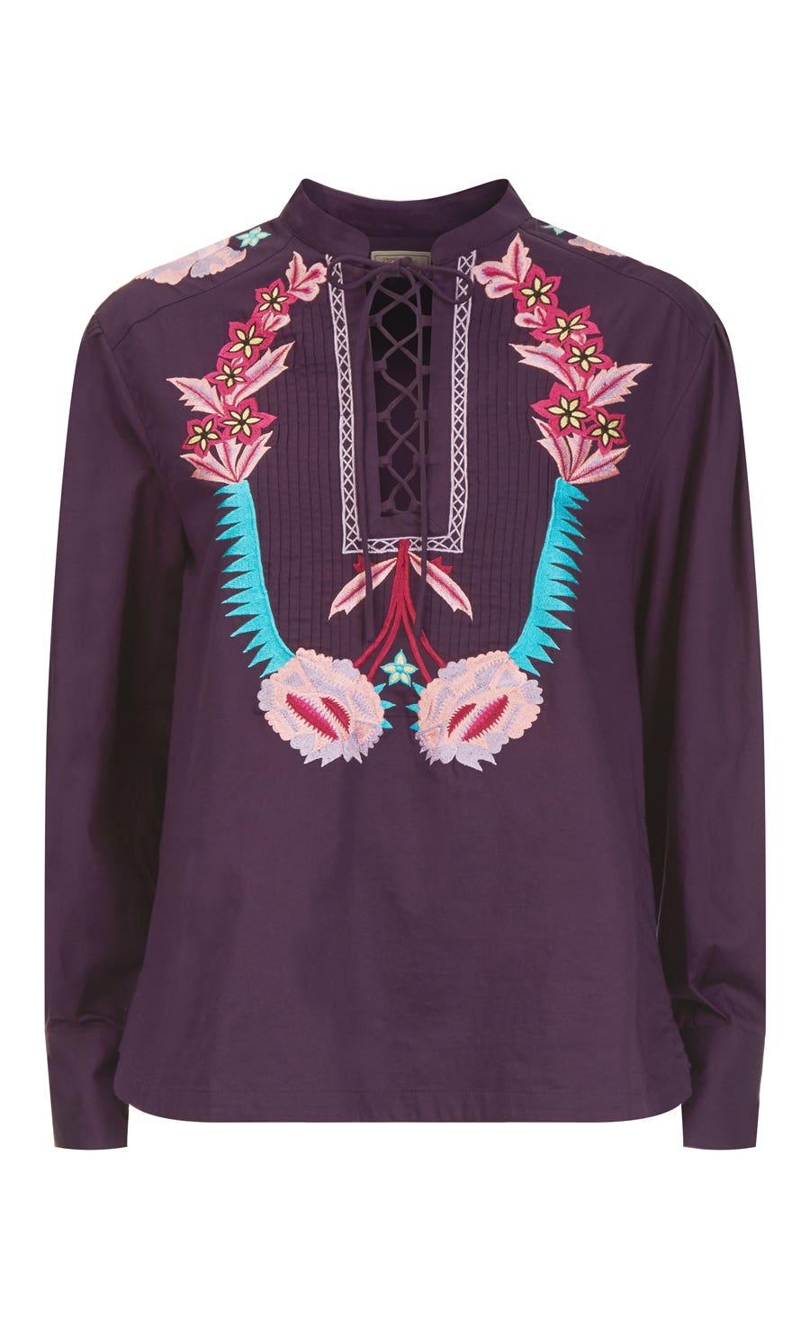 Peacock Shirt, Aubergine Mix