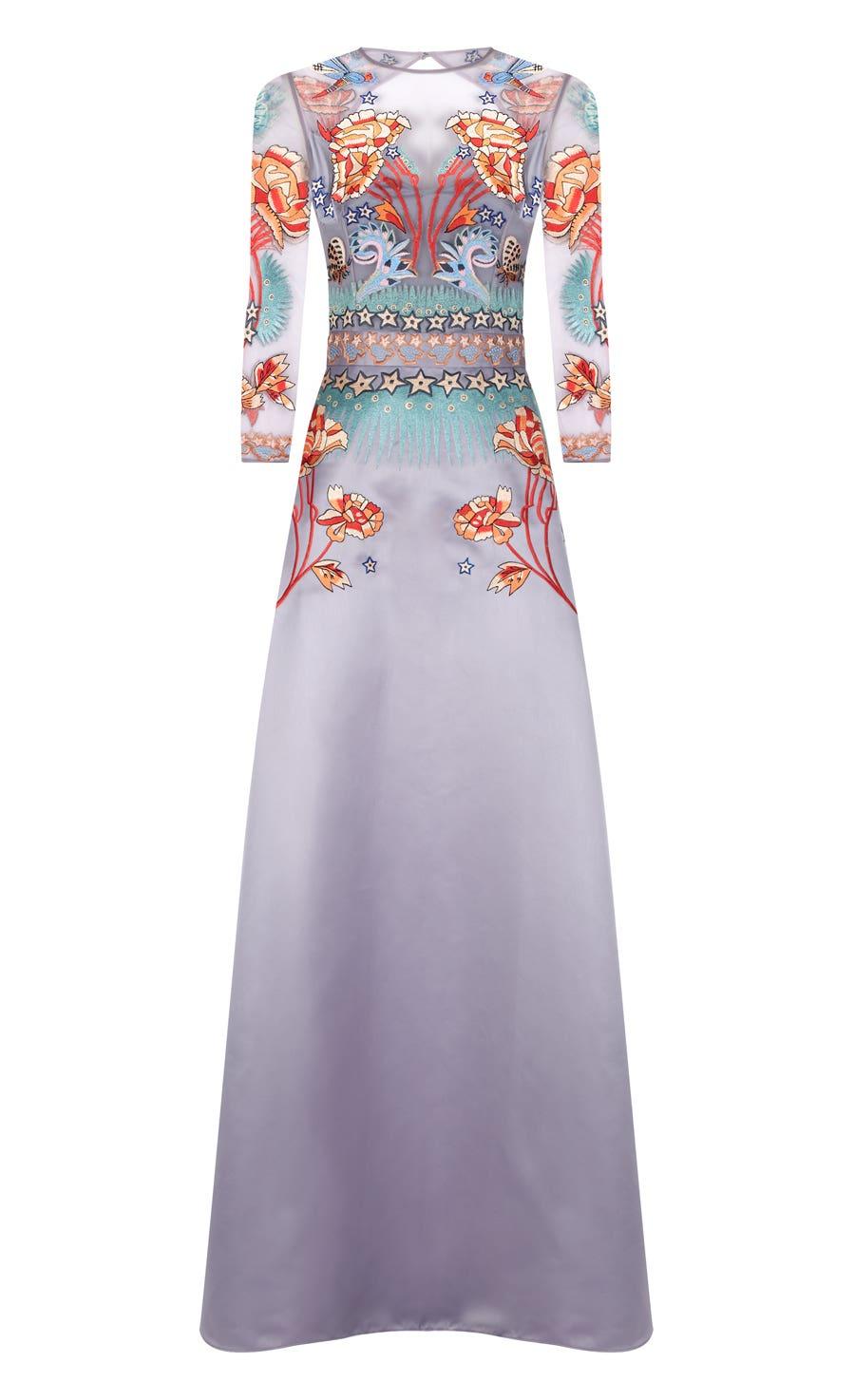 Porcelain Flared Dress, Opal Mix