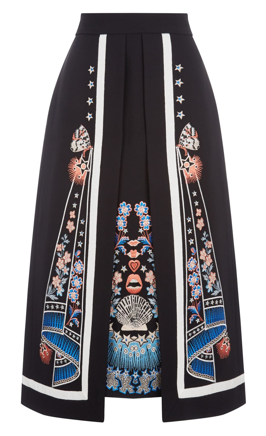 Parchment Layer Skirt, Black Mix