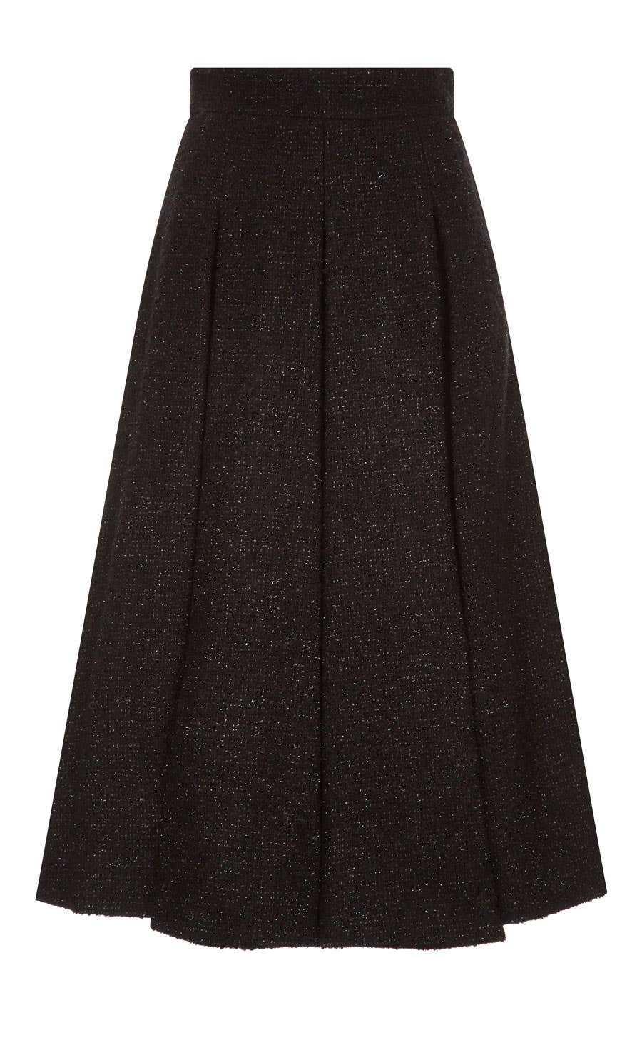 Palm Tailored Skirt, Black