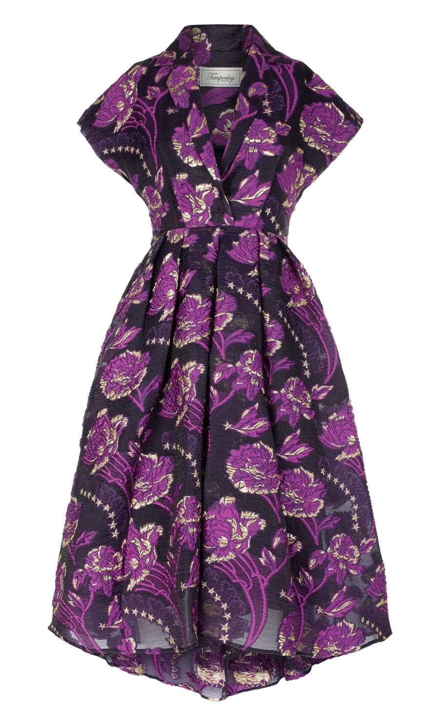 Elsa Short Dress, Aubergine