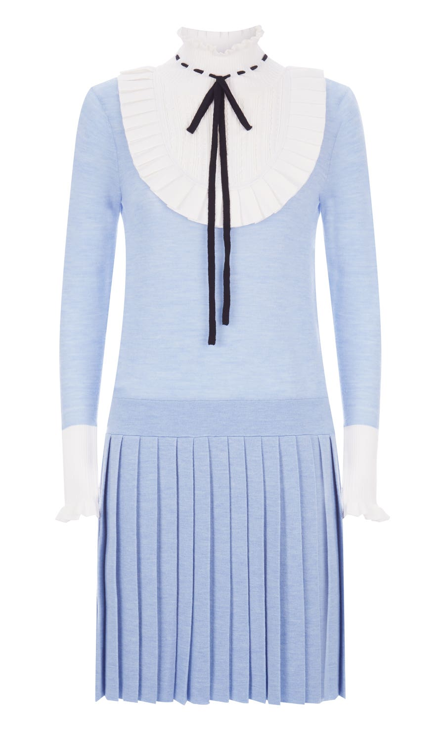 Sigmund Knit Mini Dress, Periwinkle