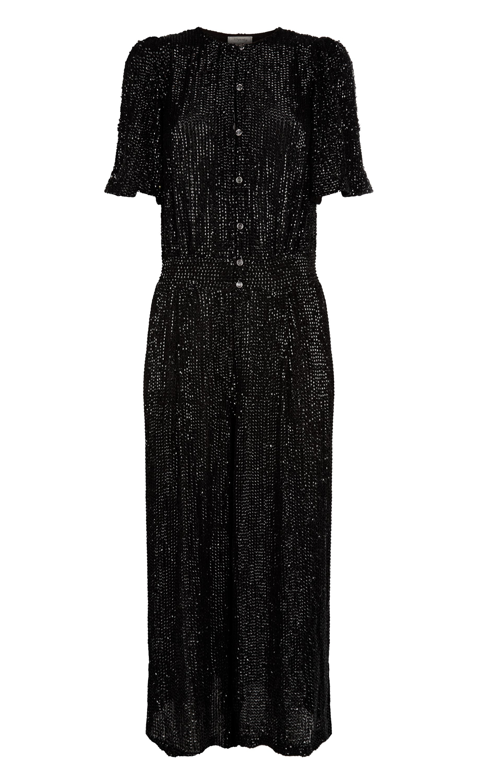 Cropped Olina Jumpsuit, Black