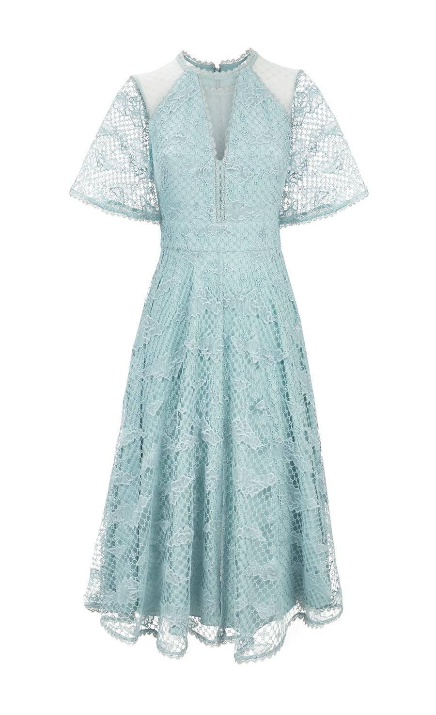 Haze Lace Sleeved Dress