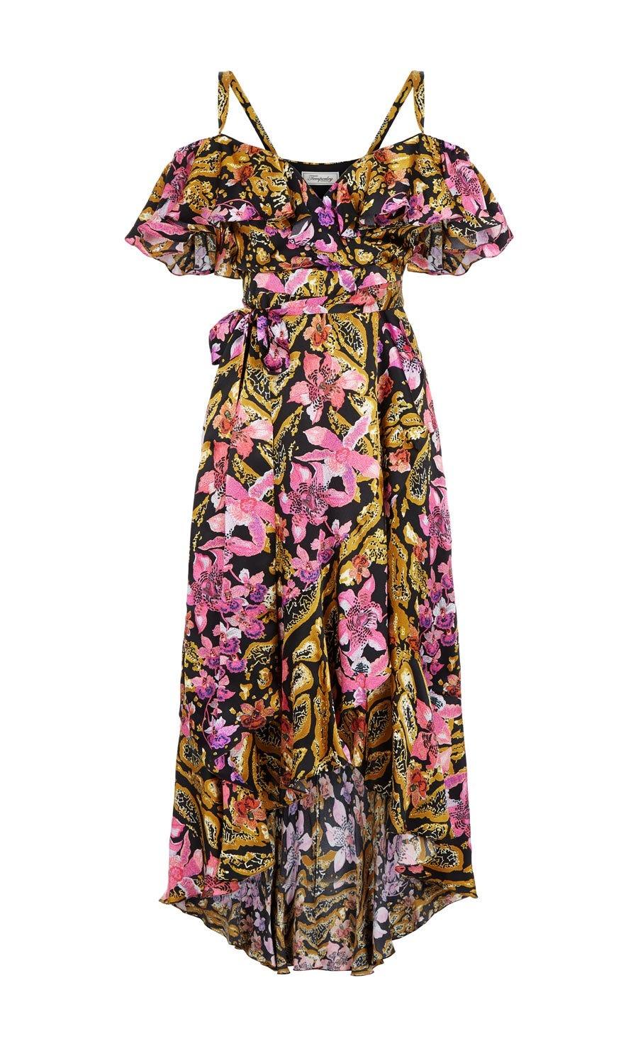 Safari Printed Wrap Dress