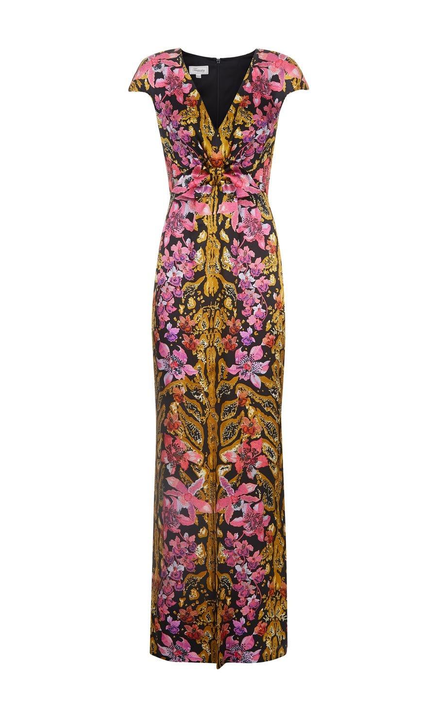 Safari Printed Tie Dress