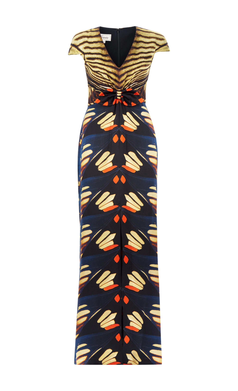 Flutter Print Tie Dress