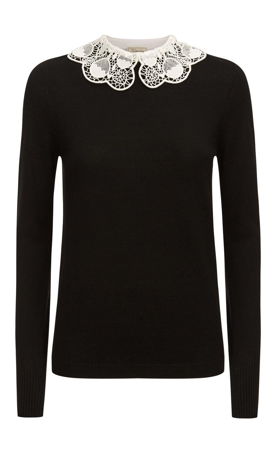 Bliss Collar Jumper, Black
