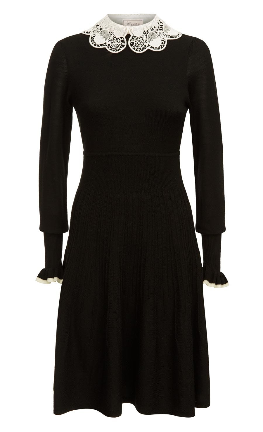 Bliss Sleeved Dress, Black