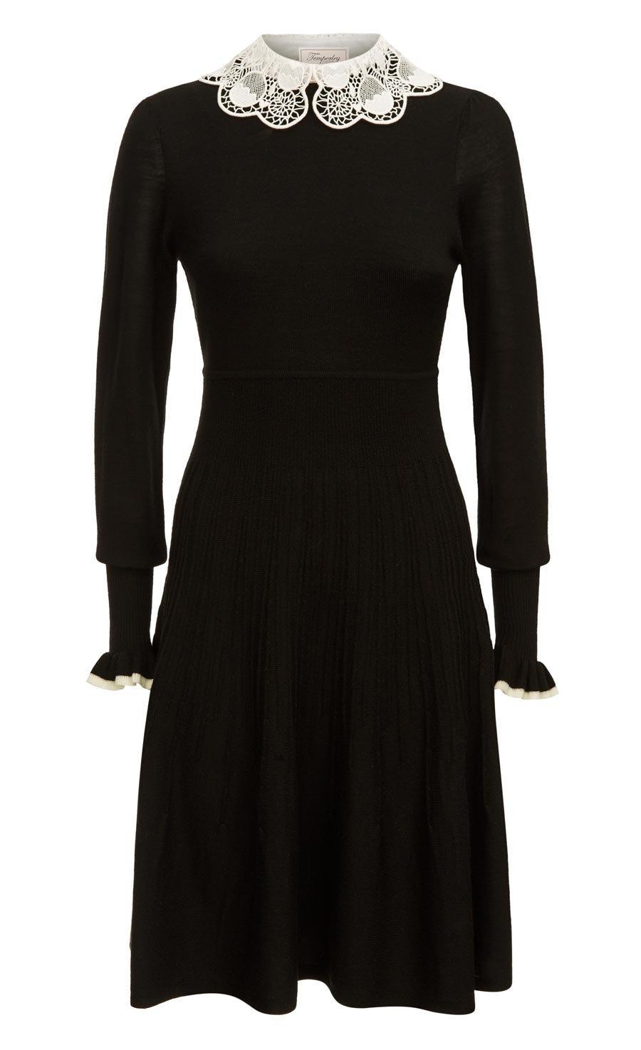 Bliss Sleeved Dress, Black