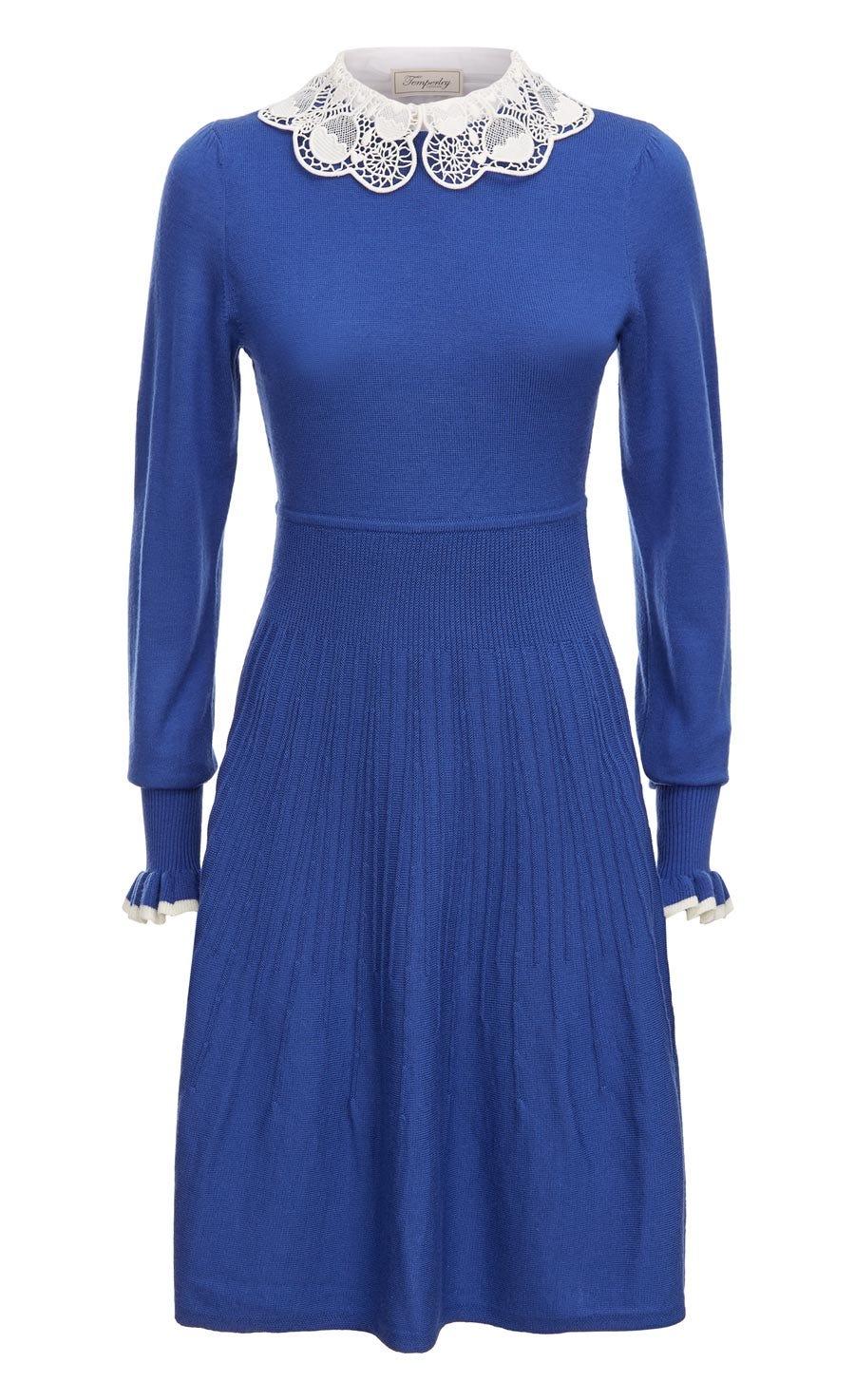 Bliss Sleeved Dress, French Blue