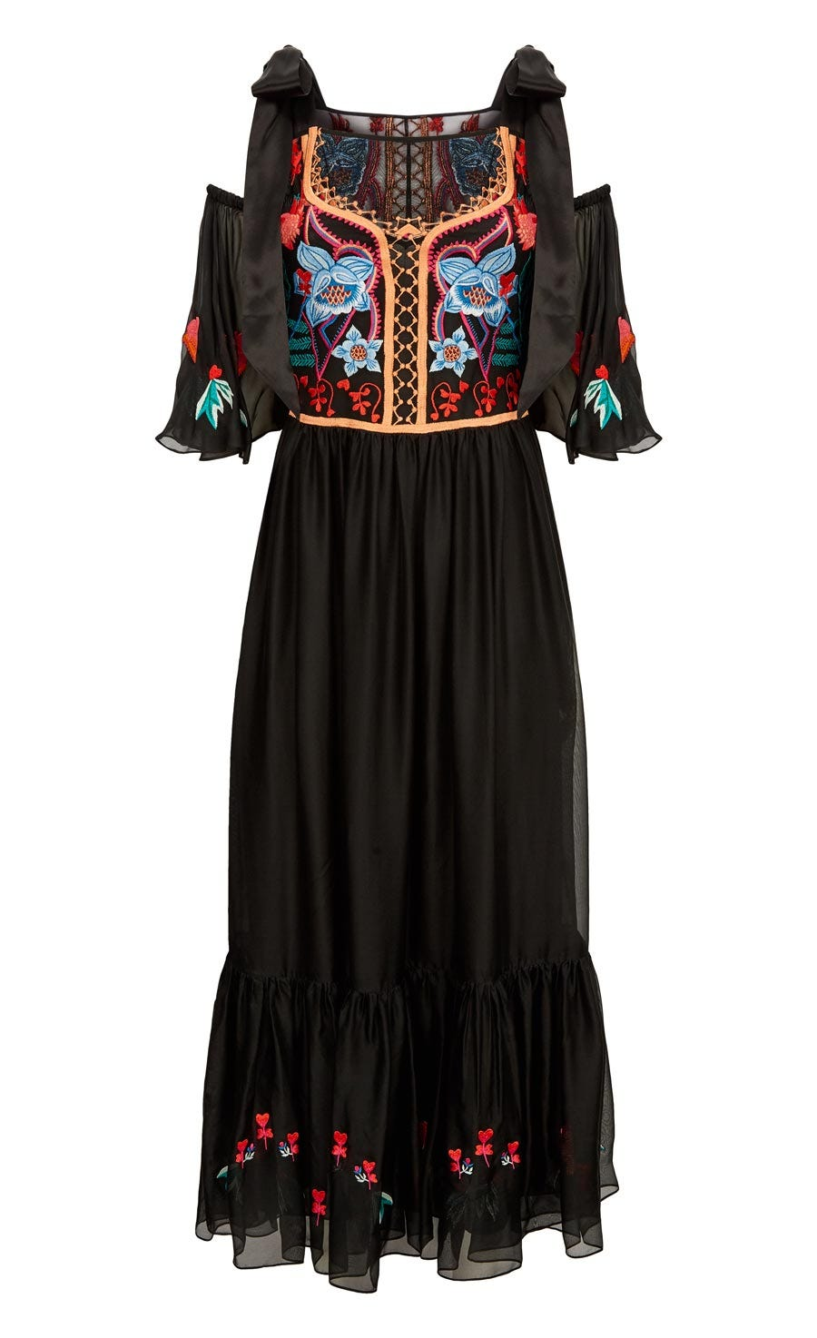 Botanist Dress, Black