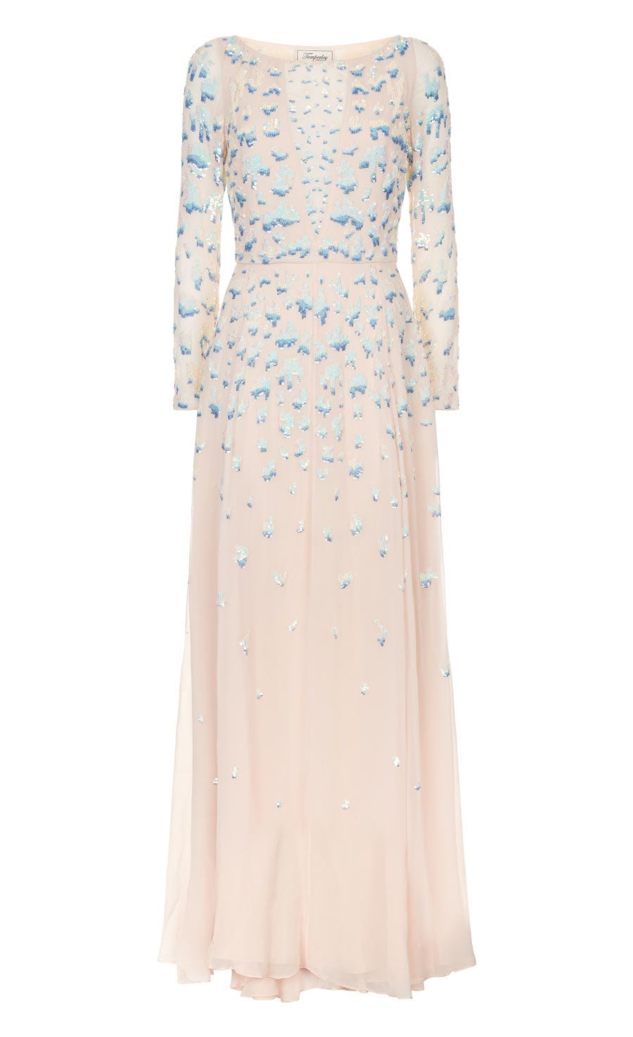 Celestial Long Dress, Almond