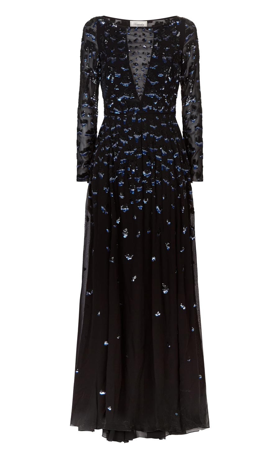 Celestial Long Dress, Black