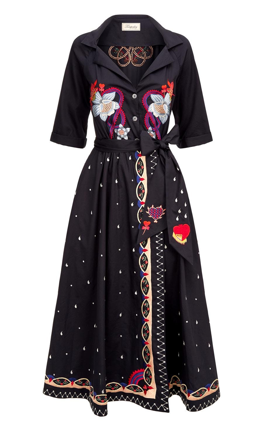 Divine Wrap Dress, Midnight