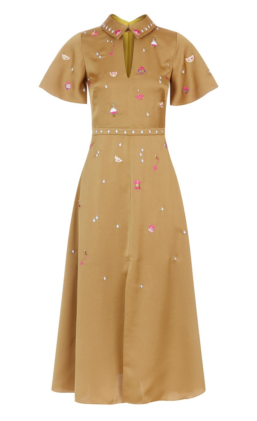 Saturn Collar Dress, Cider