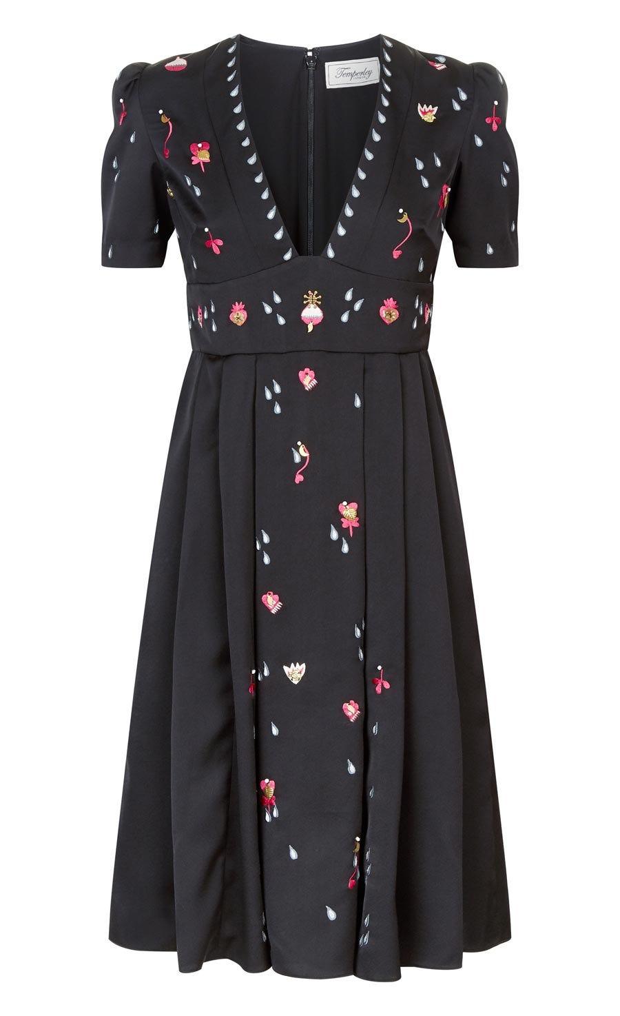 Saturn Short Dress, Black