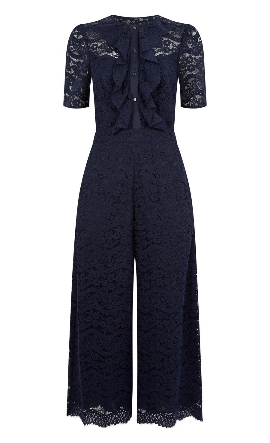 Lunar Lace Jumpsuit, Midnight