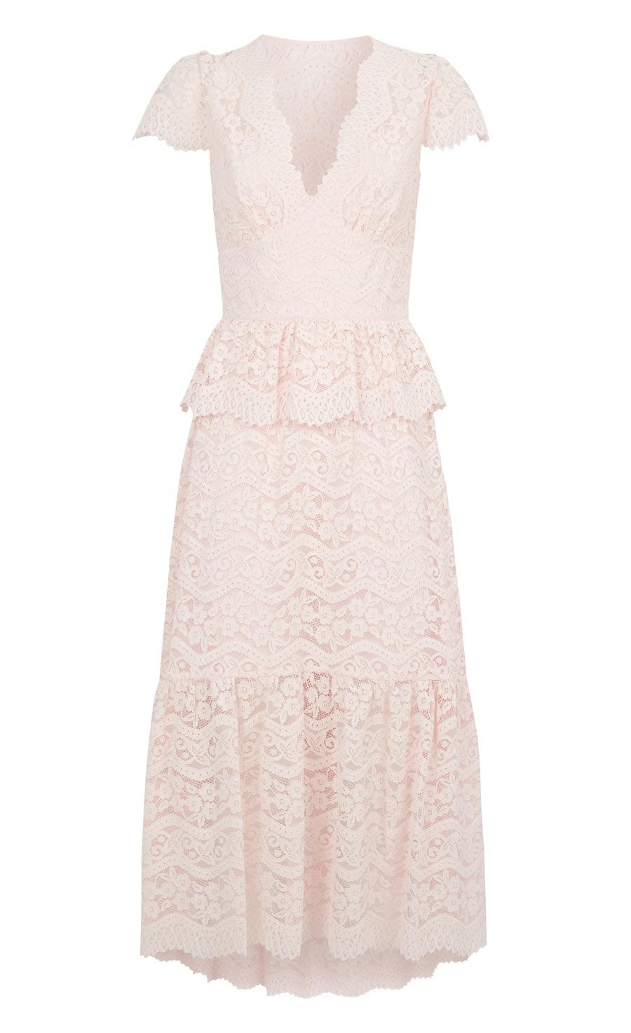 Lunar Lace V Neck Dress, Shell