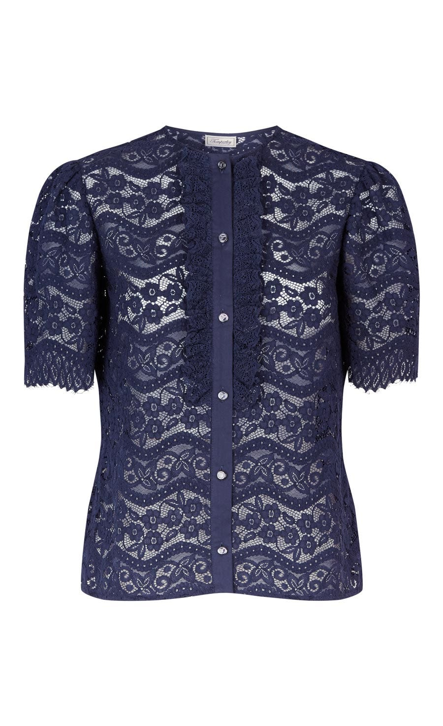 Lunar Lace Top, Midnight