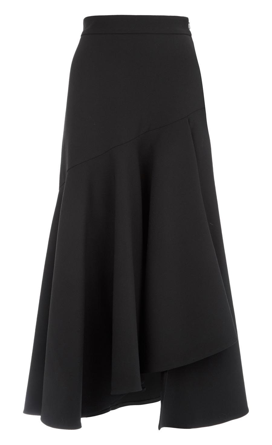 Mercury Plain Ruffle Skirt, Black