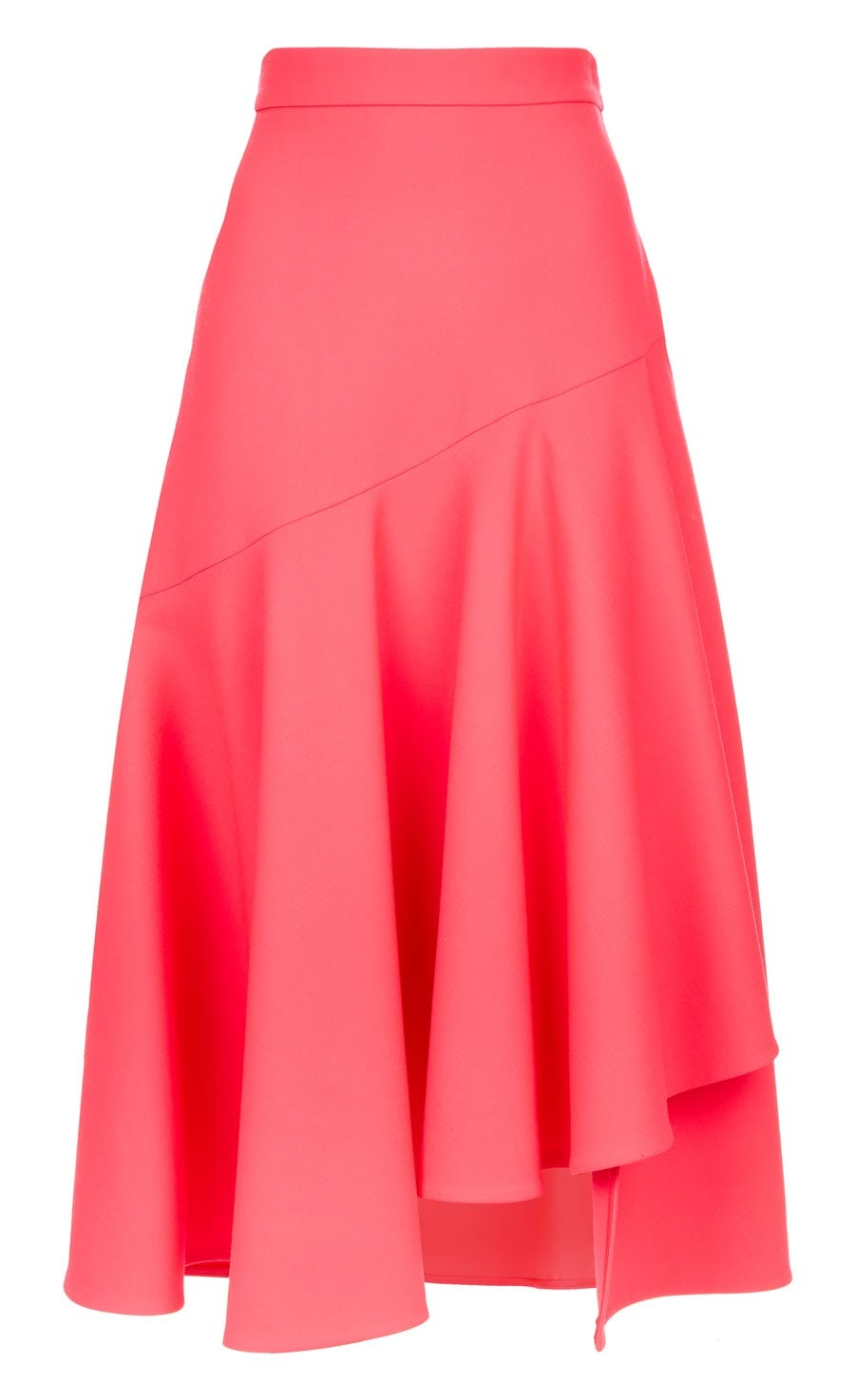 Mercury Plain Ruffle Skirt, Flamingo