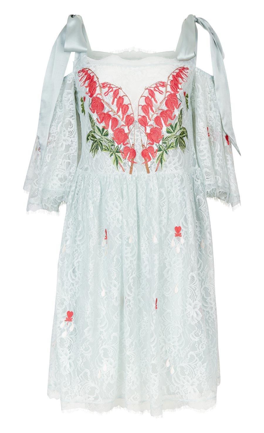 Potion Mini Dress, Pale Lichen