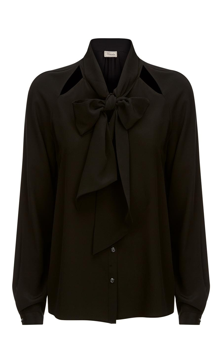 Purity Bow Shirt, Black