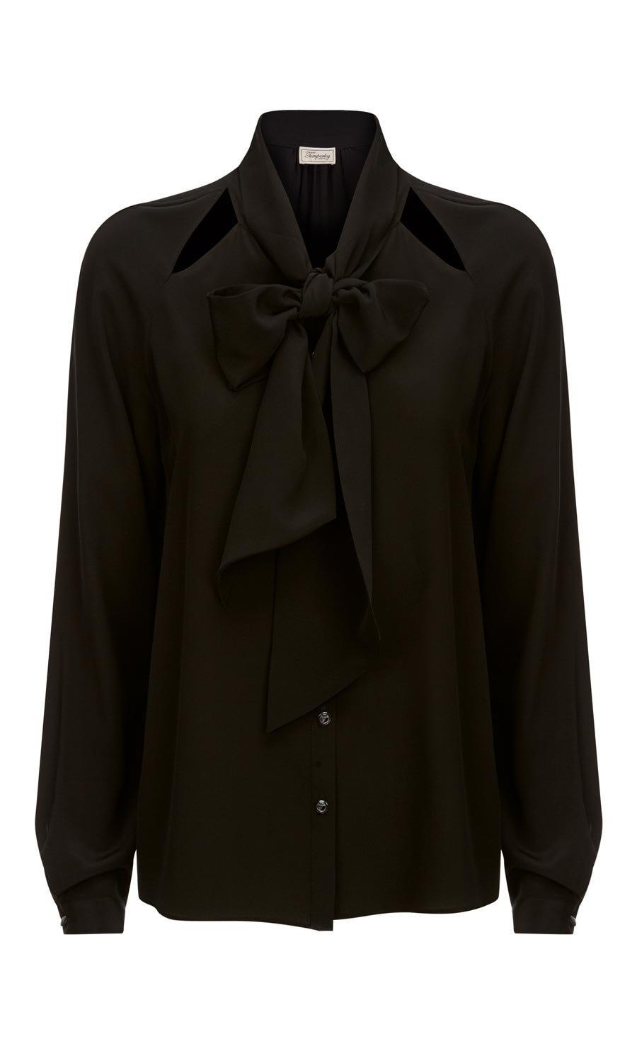 Purity Bow Shirt, Black