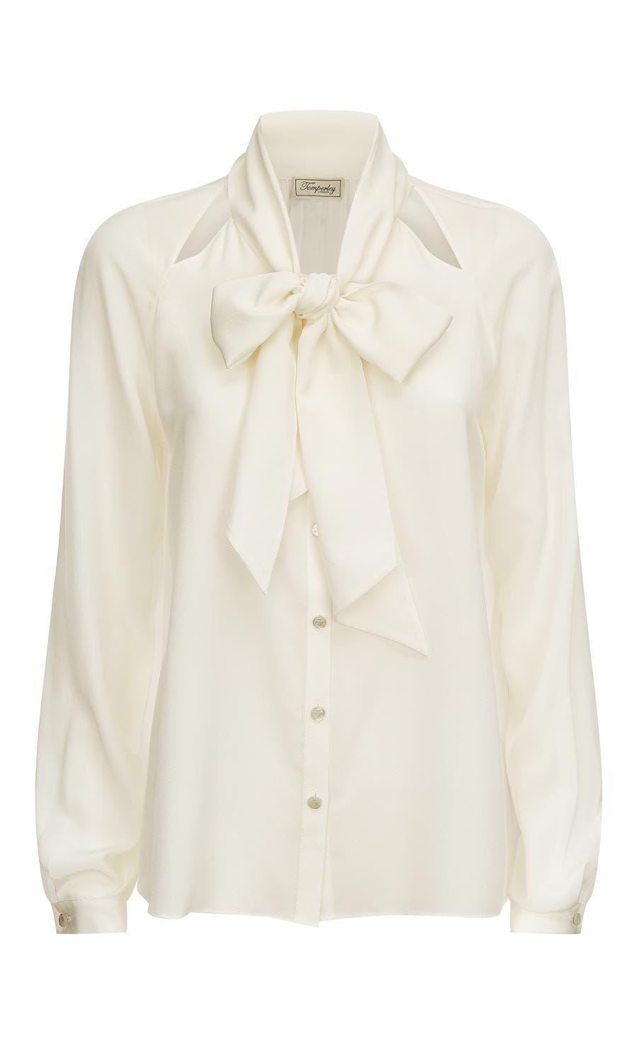 Purity Bow Shirt, White