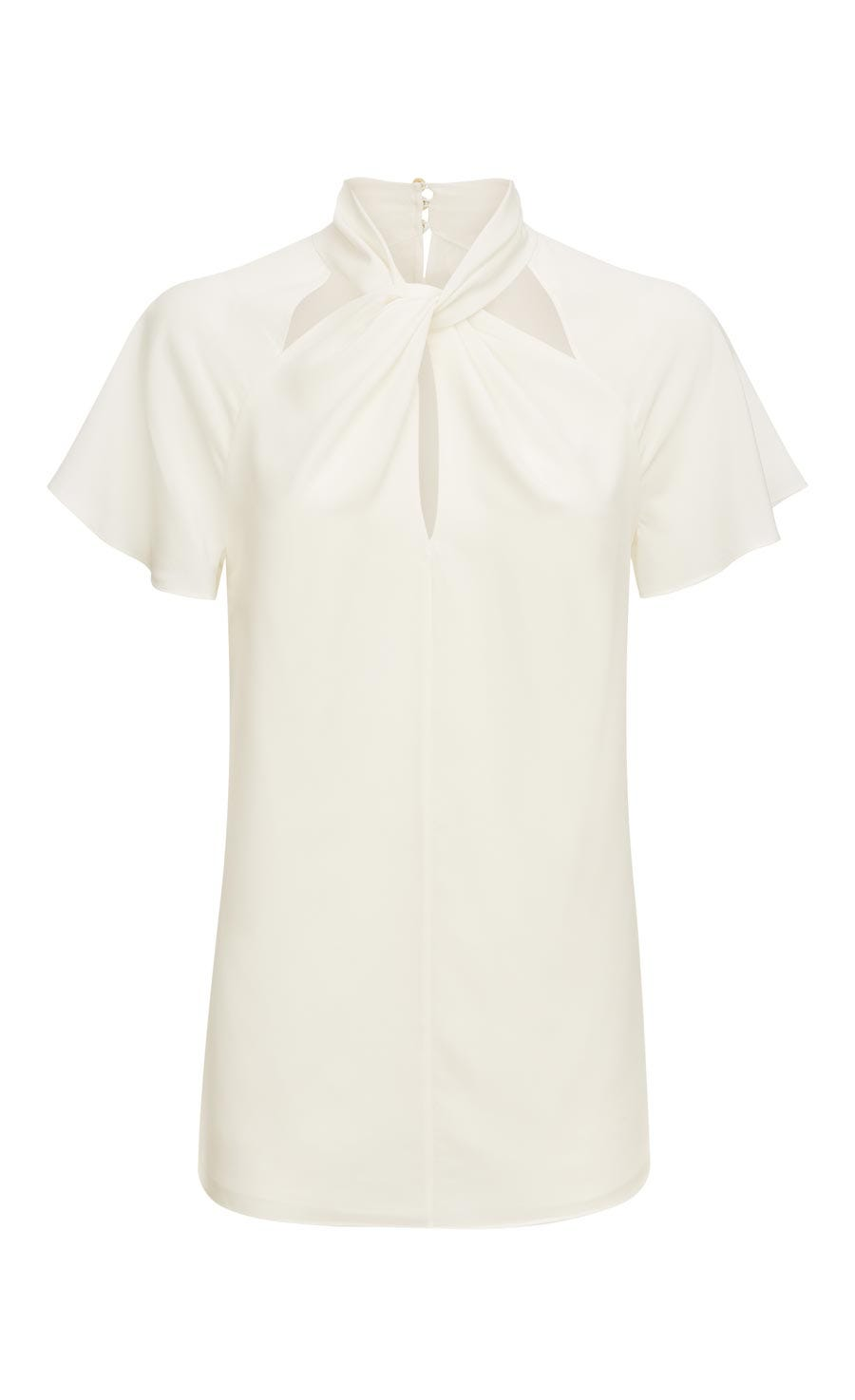 Purity Twisted Blouse, White