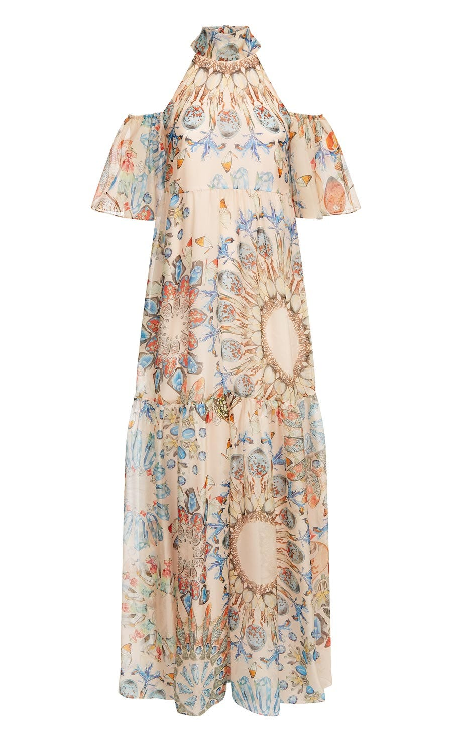 Quartz Printed Dress, Shell