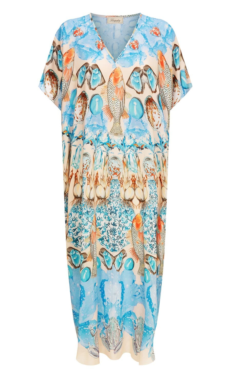Quartz Long Kaftan, Shell Mix