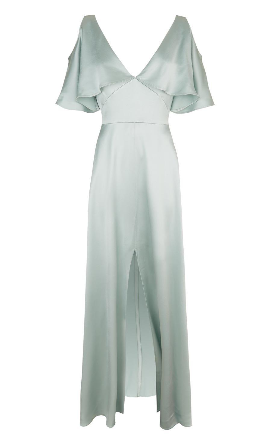 Rising Sleeved Dress, Pale Lichen