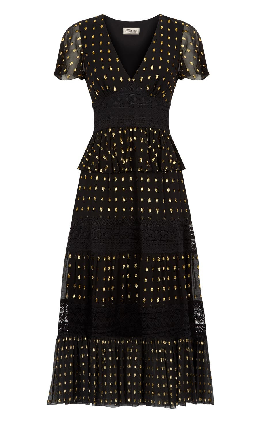 Wondering Lace Dress, Black Mix