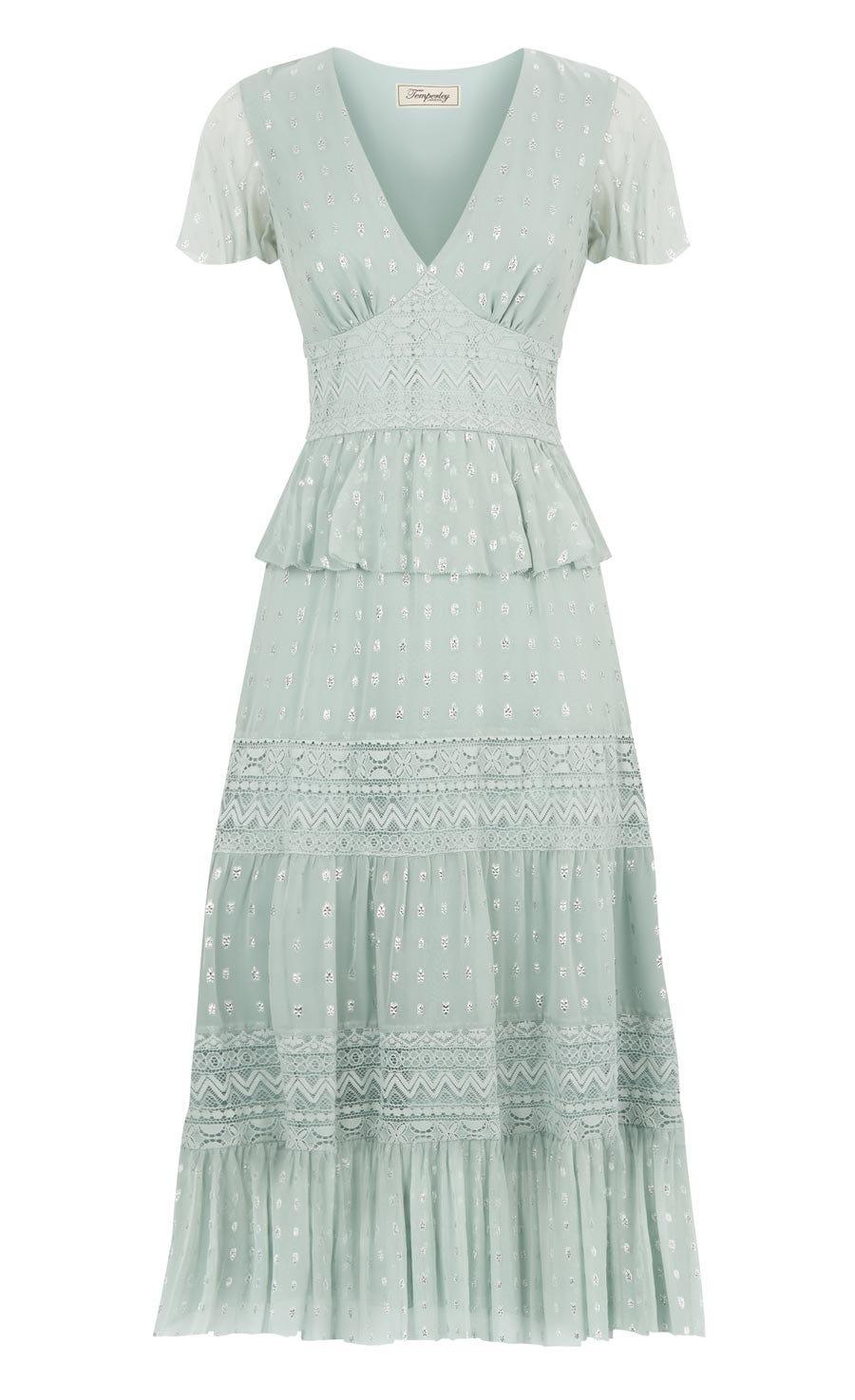 Wondering Lace Dress, Pale Lichen Mix