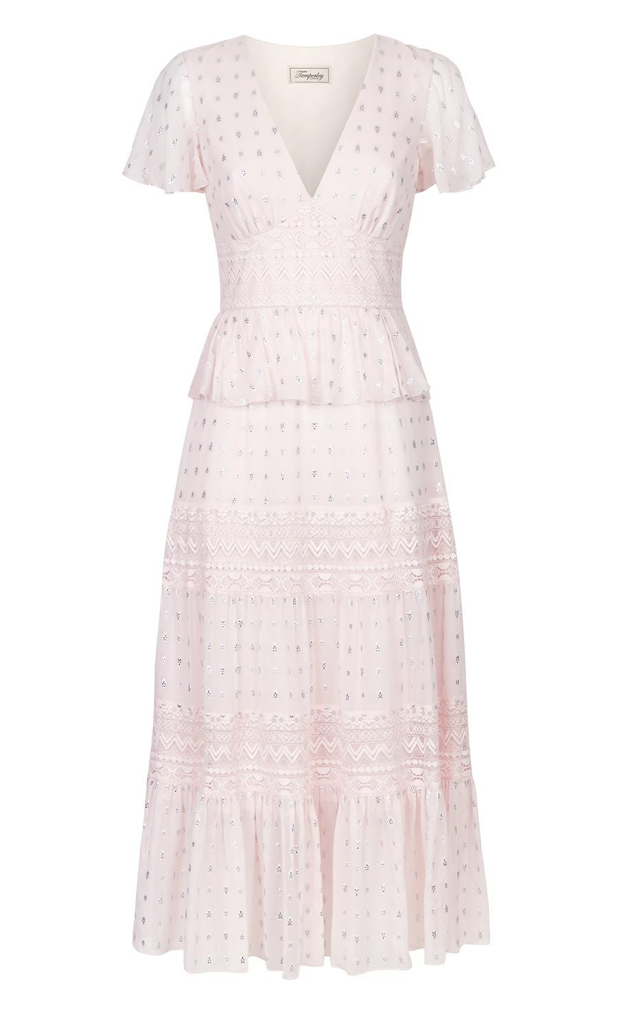 Wondering Lace Dress, Shell Mix