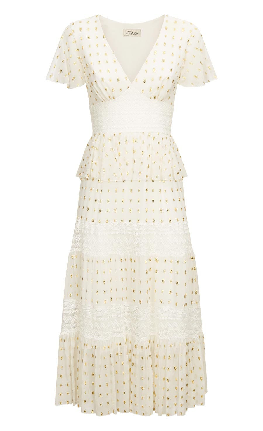 Wondering Lace Dress, White Mix