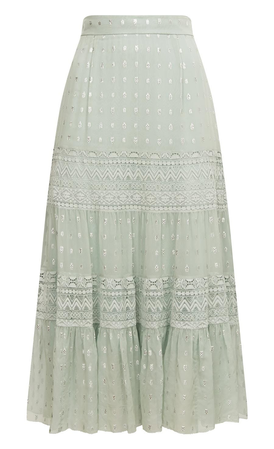 Wondering Lace Skirt, Pale Lichen Mix